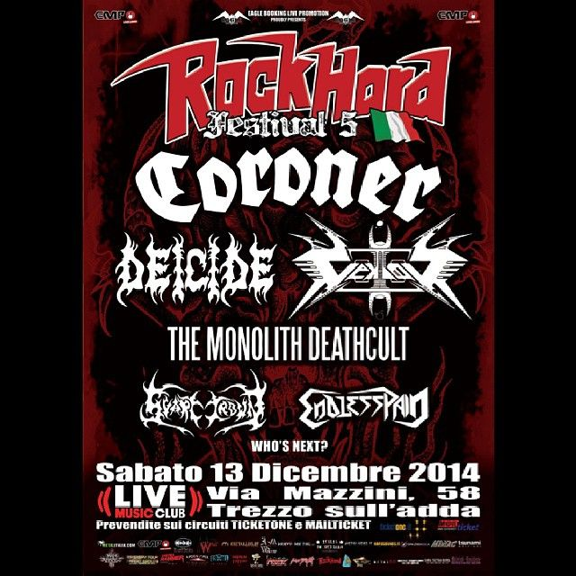 MUSIC EXTREME: CORONER + DEICIDE + VEKTOR + ENDLESS PAIN LIVE ROC...