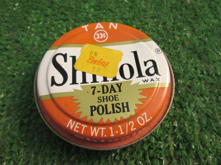 Vintage Shinola  Wax Tan  7-Day Shoe Polish Tin 33 cents Payless 30 cent sticker Best Foods Brands Advertising Collectible kitschy retro by kookykitsch on Etsy