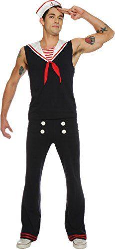 Seeing Red's Retro Sailor - Adult Size Medium #Sailor Halloween Costumes