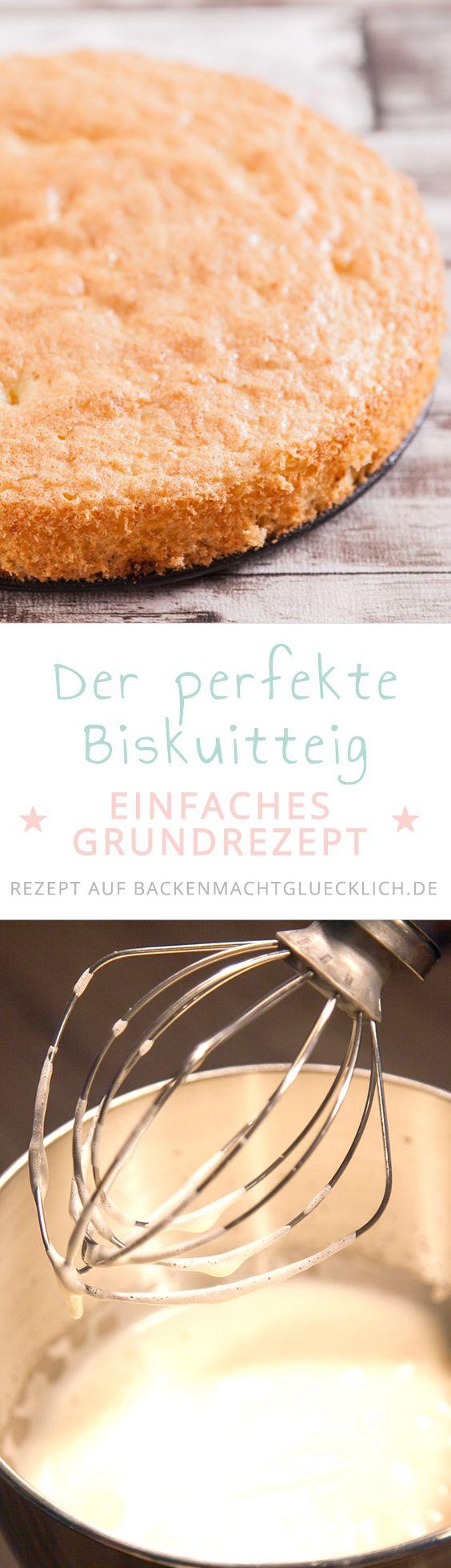 Gelingsicheres Grundrezept für Biskuitteig bzw. Biskuitboden mit vielen Tipps. Der Biskuit funktioniert sowohl mit getrennten als auch mit ganzen Eiern. Der perfekte fettarme Tortenboden bzw. Kuchenboden.