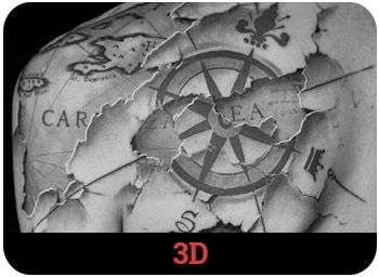 Diferentes tipos de tatuajes 3d