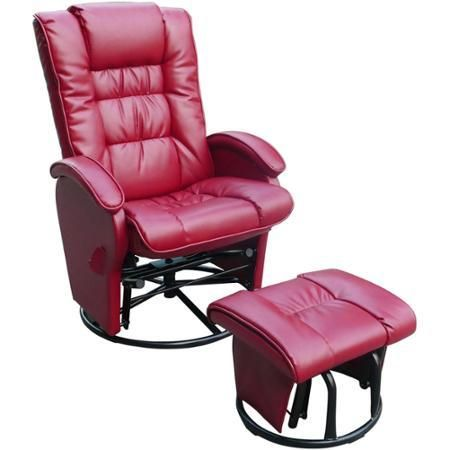 Furniture Rooms Shermag Occasional Armchair Bonded Leather Red - Chairs