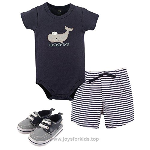 Hudson Baby Baby -Boys' 3 Piece Bodysuit, Short, Shoe Set, Sailor Whale, 3-6 Months BUY NOW $16.99 Hudson Baby is a premium baby basics brand featuring stylish clothing, bath and bedding baby essentials. Newborn baby boys bod .. http://www.joysforkids.top/2017/03/10/hudson-baby-baby-boys-3-piece-bodysuit-short-shoe-set-sailor-whale-3-6-months/