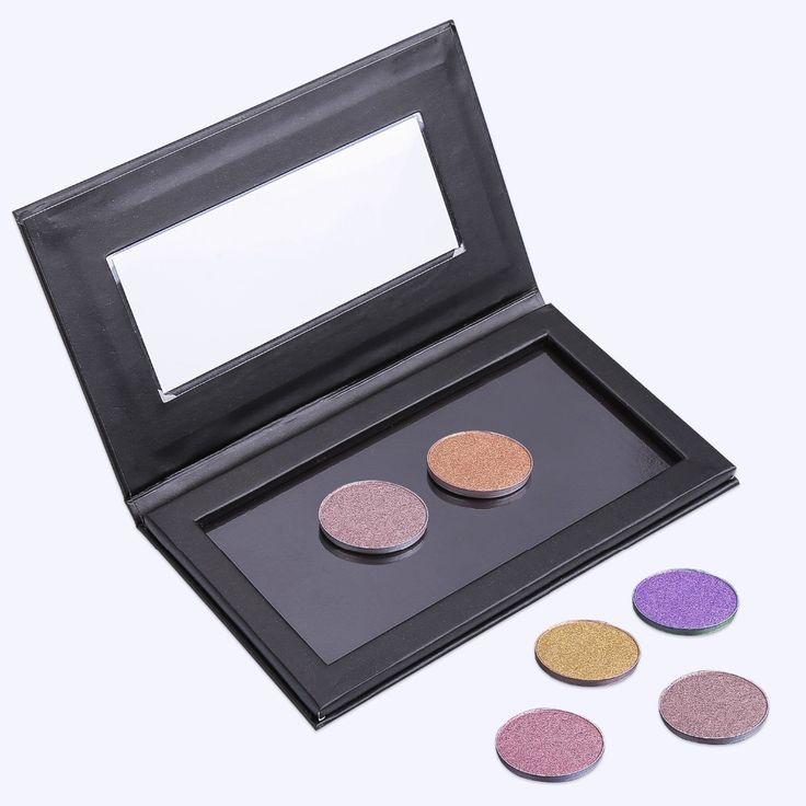14.5 cm x 8.2 cm Lege Magnetische Oogschaduw Concealer Aluminium Pannen Met Palet Makeup Tools Cosmetica DIY Doos