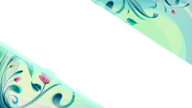 Kwiat, Design, Rogi, Tle, Ramki, Świeca, Niebieski