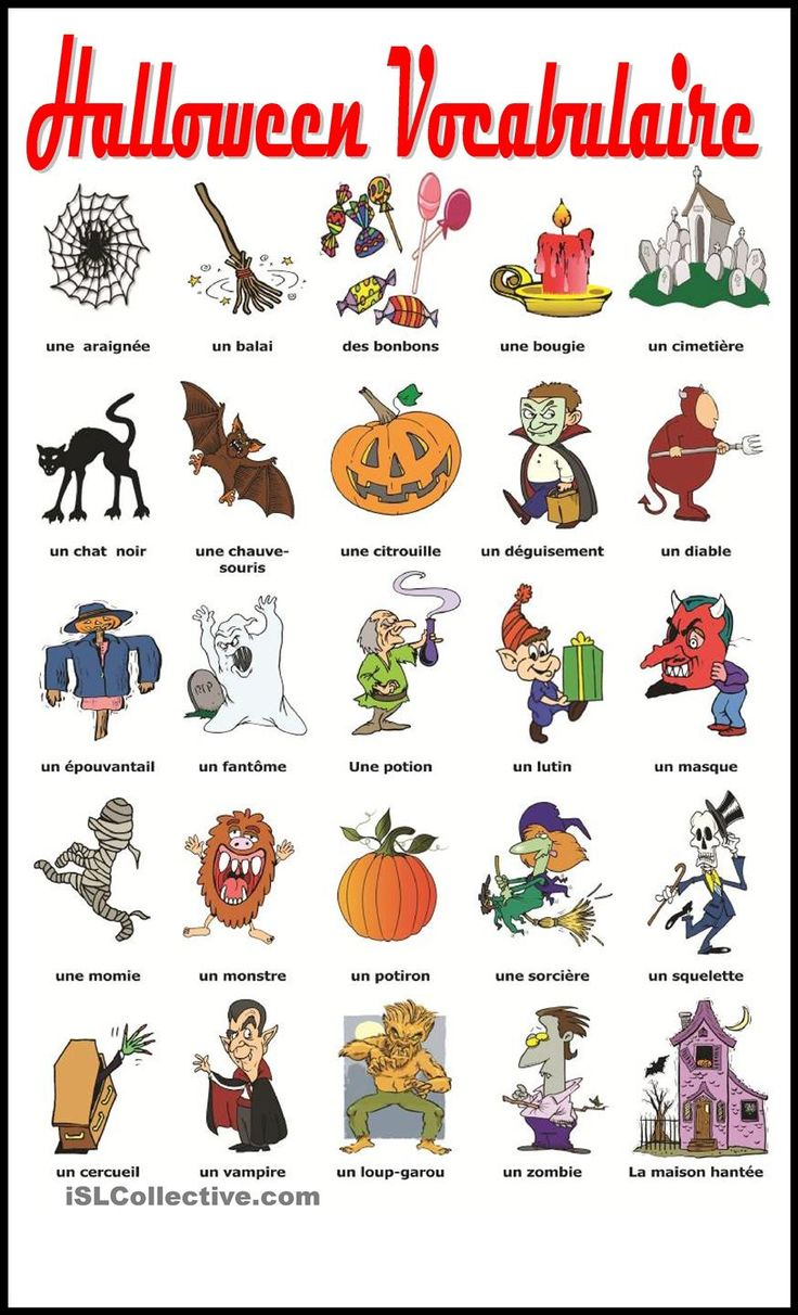 Halloween Vocabulaire:
