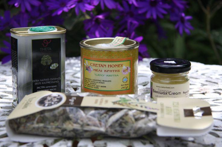 Cretan honey, thyme, tea, olive oil and herbs!!!  #cretanproducts #cretan #greek #crete #eloundagulfvillas #elounda