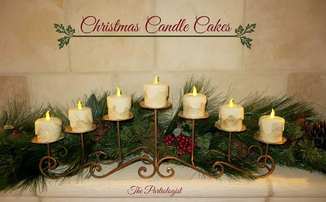 The Partiologist: EDIBLE Christmas Candle Cakes!