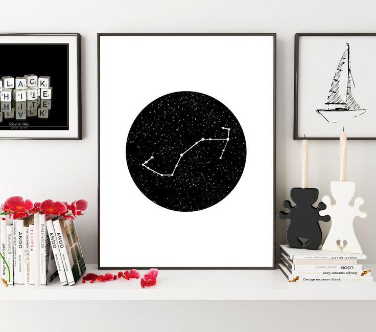 Zodiac Scorpio, Scorpio Constellation, Zodiac Sign, Zodiac Gifts, Zodiac Print, Constellation Print, Zodiac Decor, Zodiac Wall Art, Wall Art