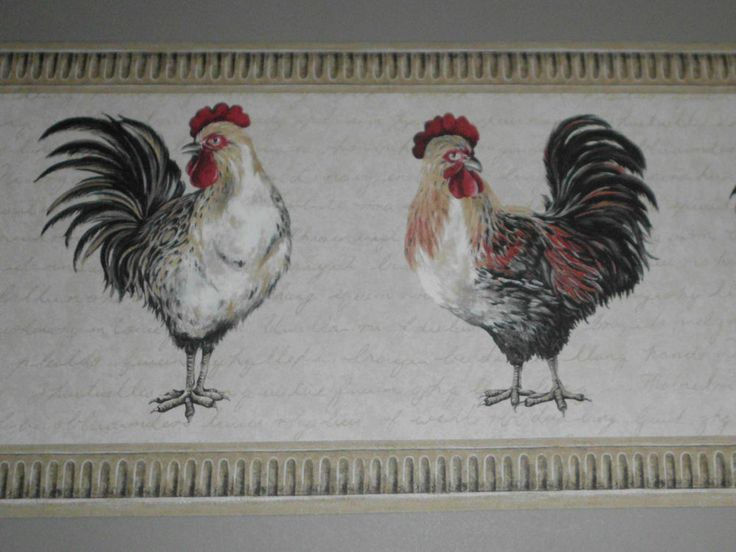 Roosters country kitchen wallpaper border 15 x