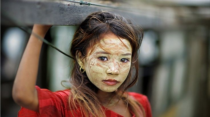 Burmese women , children and occasionally men can often be seen in public with Thanaka powder.  This age old skin care treatment is the Burmese method to beautiful flawless skin.  More information about everything thanaka related can be found here at  www.thanakapowder.com