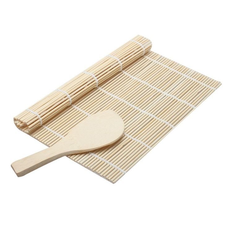 Cooking Sushi Tools Bamboo Sushi Rolling Mat Sushi Maker With Rice Paddle