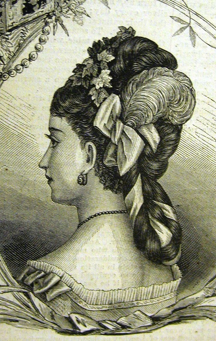 Evening hair dressing and ornaments 1880s