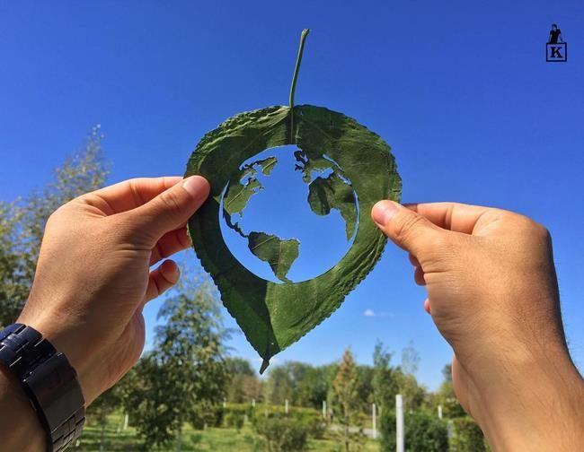 Yaprağın Ucundaki Hayal Dünyası: Yaprak Sanatı ve Gökyüzünü Birleştiren Sanatçı ile Tanışın Sanatlı Bi Blog 8