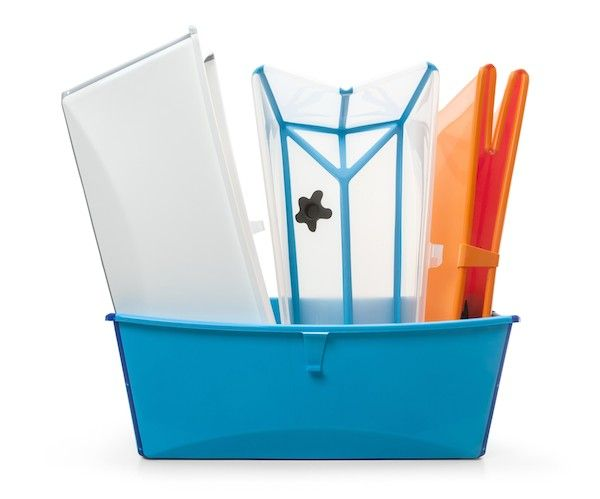 Flexible, travel-friendy, easily-stored Stokke Flexi Bath – uniquely foldable + a range of colors !   #baby #bath #kids – Multi use too! Use it for washing Fido, home pedicures, a play pool outside or at the beach, toy storage  more !