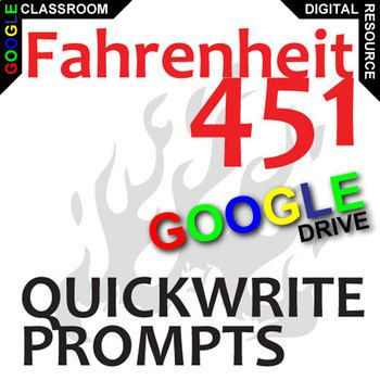 best teaching fahrenheit by ray bradbury images on fahrenheit 451 journal quickwrite writing prompts created for digital