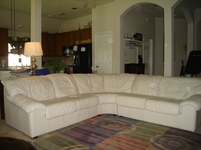 Leather Sectional Couch In Teresiau0027s Garage Sale In Richmond , TX For  $300.00. From Star