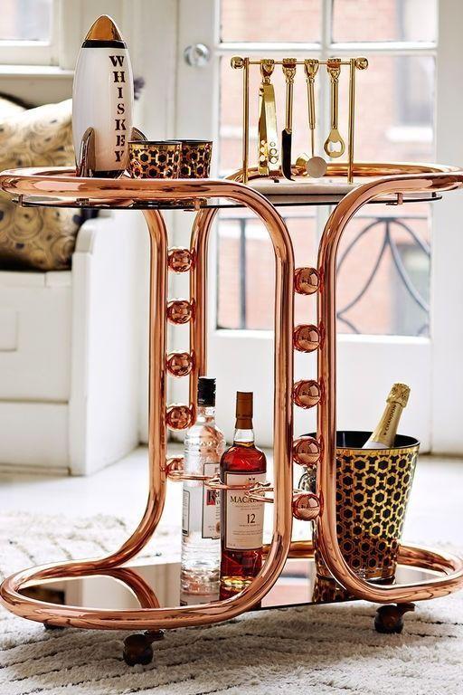love this chic jonathan adler rose gold bar cart - Rose Gold Bar Cart