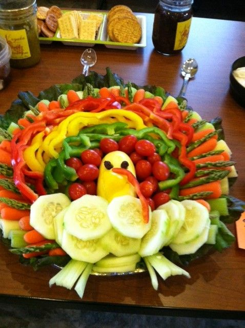 Turkey Veggie Platter Mom is bringing this