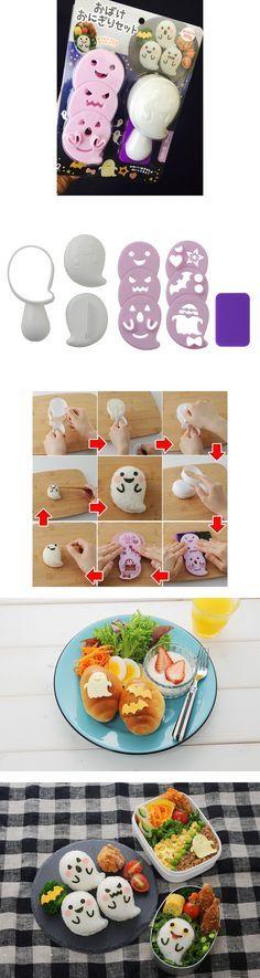 Adorable ghost onigiri mold kit
