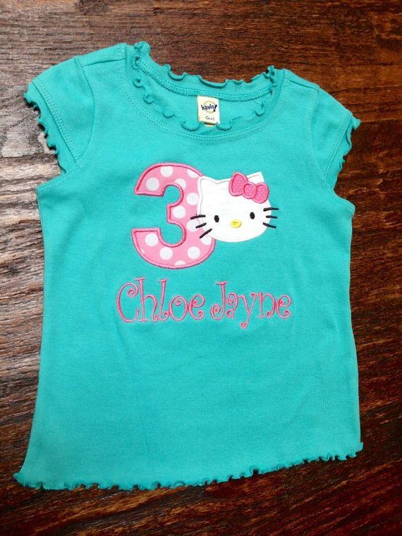 This is perfect shirt for your little ones birthday! I can do this with any number for your little one. Message me if you have any questions.