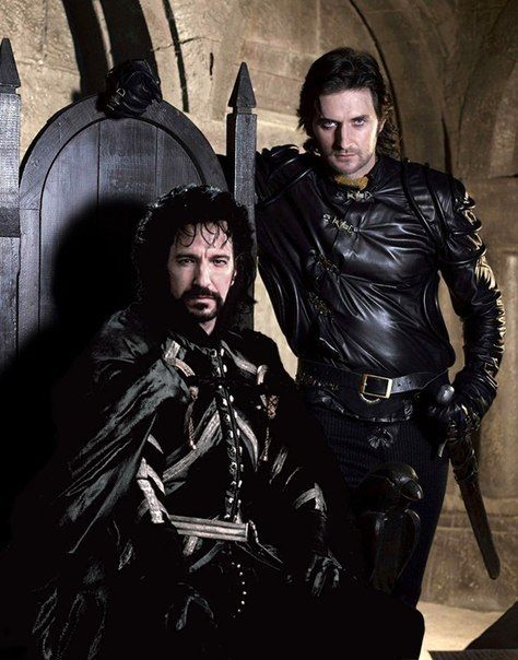 (Guy of Gisborne) Richard Armitage & (The sheriff of Nottingham) Alan Rickman