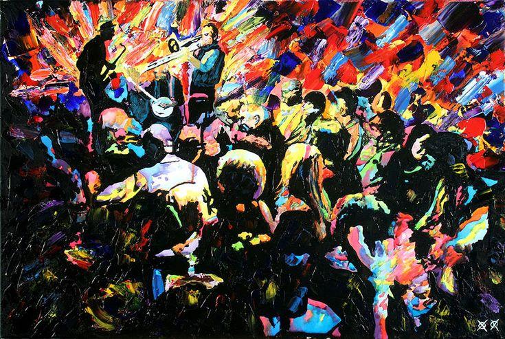 Stupefacente dipinto di John Bramblitt, artista americano non vedente.