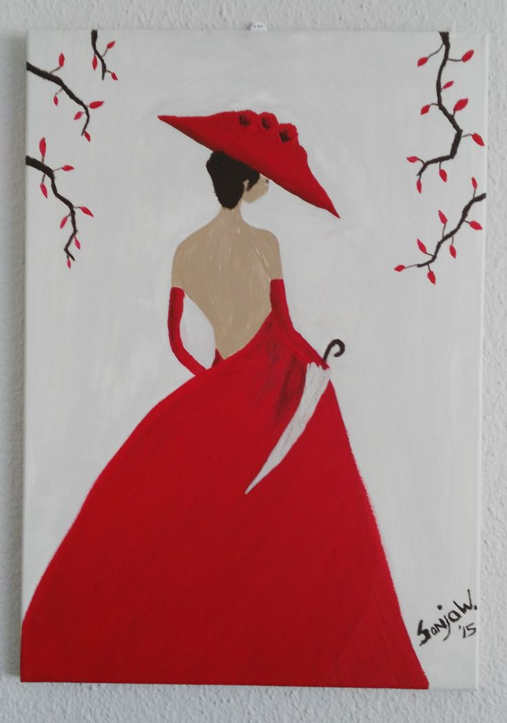 Lady in Red canvas @ R700