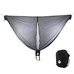 Hammock Bug Net by Legit Camping – 11 Feet Long Mosquito Net – Keep Out Noseeums -Compatible With All Hammock Brands – Includes Ridge Line – (Black)