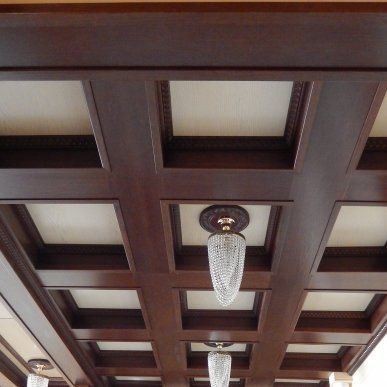 Кессонный потолок из балок