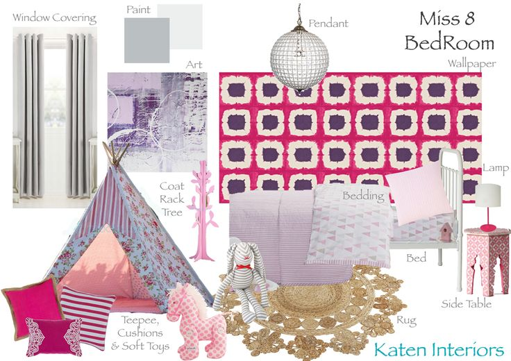 E-Decoration Moodboard Miss 8 Girls Bedroom. WE are LOVING Competition Time!  Head over to our Facebook page to enter. See Link Below  http://www.facebook.com/photo.php?fbid=575913452491251&set=a.467847183297879.1073741832.462808493801748&type=1&theater