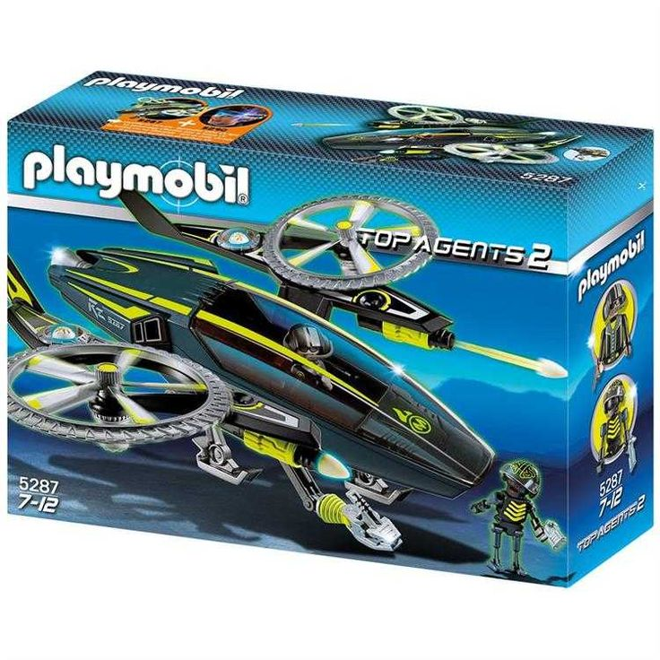 Playmobil Top Agents 2 Mega Helikopter Oyun Seti 5287