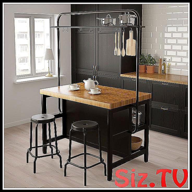 VADHOLMA Kücheninsel mit Gestell - schwarz, Eiche IKEA ...