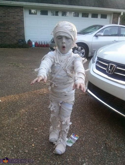 Amy: My son Kameron wanted to be a mummy this year, which shocked me because I for sure thought he would want to be a super hero or ninja turtle. I...