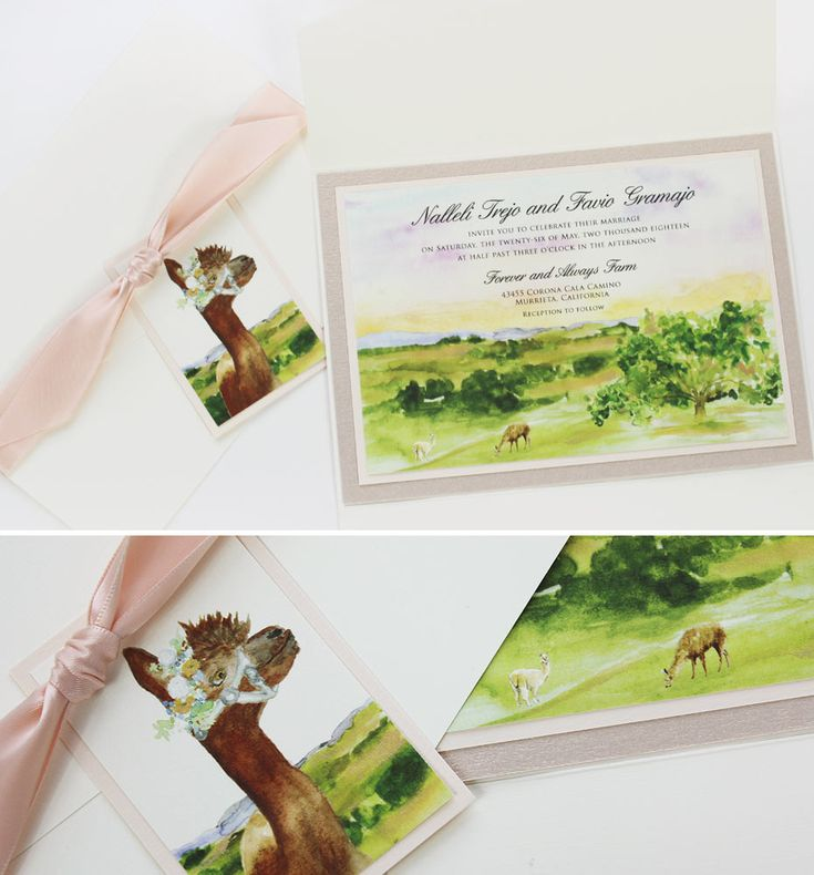 wedding invitations east london south africa%0A Nalleli T   Watercolor California Landscape Wedding Invitations