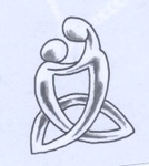 Celtic Motherhood symbol. I wear it on my side for my boys.