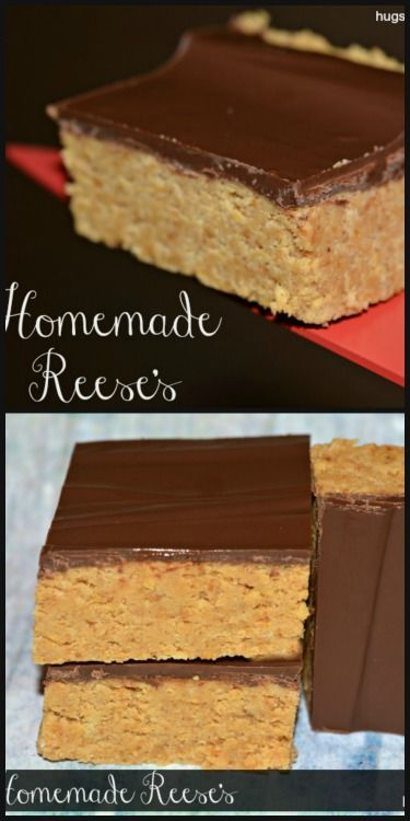 homemade reese's bars...extra thick!