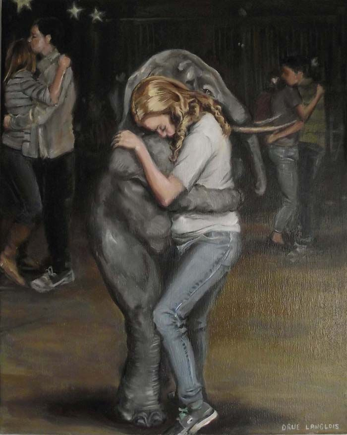 """""""Slow Dance With Memory"""" by Drue Langlois, oil paint on canvas"""