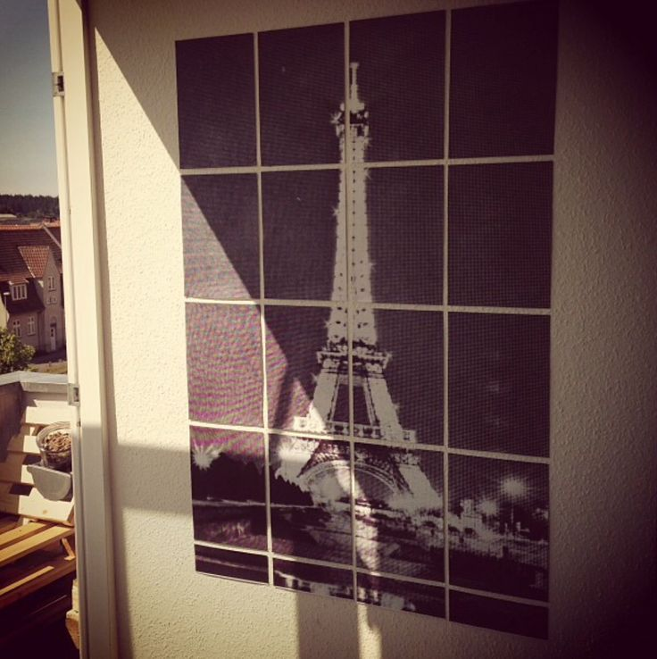 From Paris with love <3 Huge picture made of 16xA4 papers. Hanging on my Wall in my livingroom.