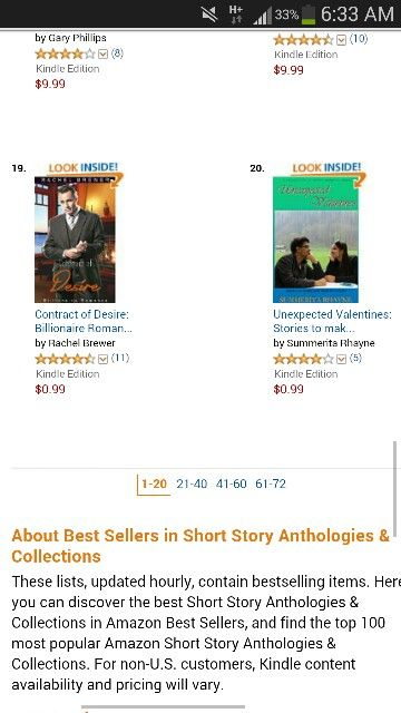 Unexpected Valentines at no 20 in recommended category at Amazon! Find more romance books at Amazon.com/author/summeritarhayne