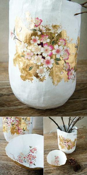 #DIY #Craft - Paper Mache Vases - #mothersday