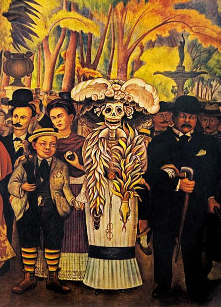 "La Catrina. ""Dream of a Sunday Afternoon in Alameda Park"" by Diego Rivera"