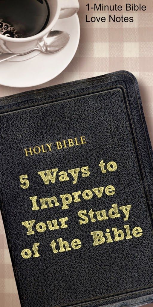 5 Ideas for Studying the Bible