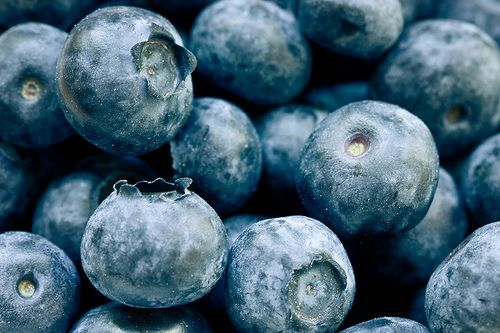blueberries. I have a huge frozen bag of these in my fridge right now. Even frozen they make a great snack!