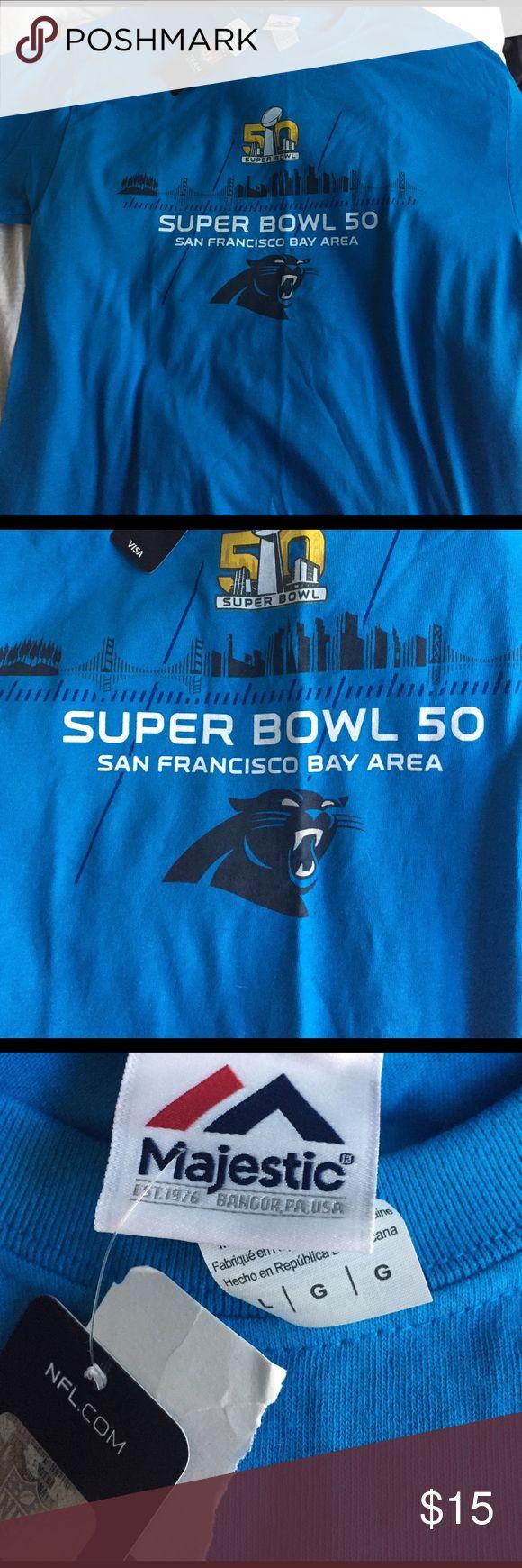 BRAND NEW Carolina Panthers Super Bowl 50 T-Shirt Brand new. Super Bowl 50 Carolina panthers T-Shirt Majestic Shirts Tees - Short Sleeve