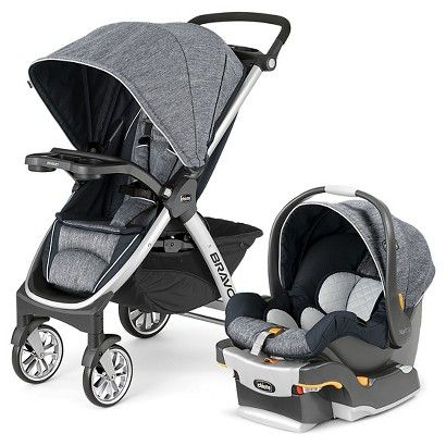 Chicco Bravo Travel System (with Keyfit 30) in Indigo (save $50 if you buy together)