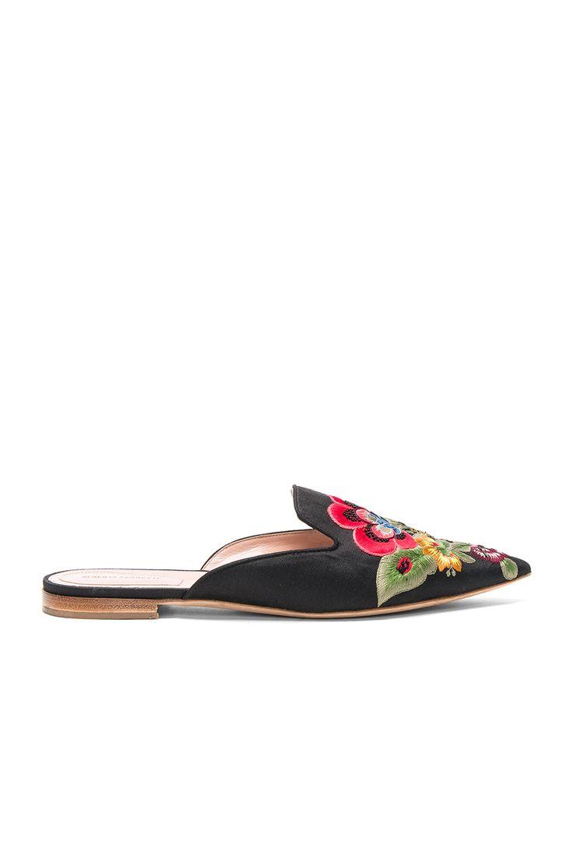 ALBERTA FERRETTI | Flower Embroidered Mules #Shoes #ALBERTA FERRETTI