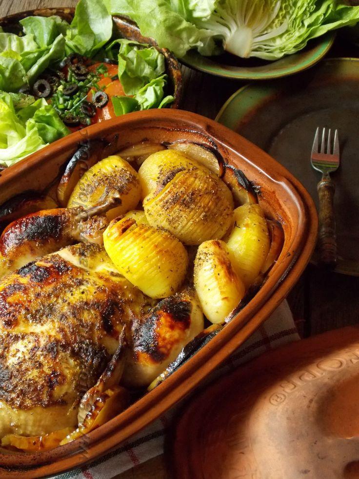 Gotowanie jest łatwe: Kurczak i ziemniaki w garnku rzymskim