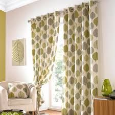 Green Eyelet Curtains