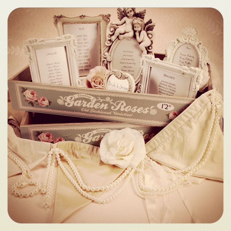 Vintage Frames Rustic Trays Wedding Table Plan Ideas http://www.thehandcraftedcardcompany.co.uk/cardcrafts/4783-vintage-frames.asp